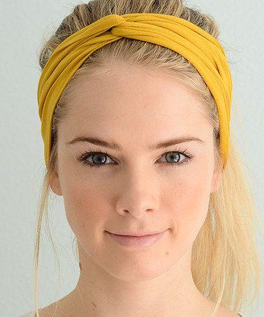 Loving this Mustard Jersey Twist Headband on  zulily!  zulilyfinds ... 5a25dcb7bc5