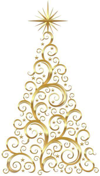 Transparenter Gold Deco Weihnachtsbaum Clipart Ich Konnte Das In