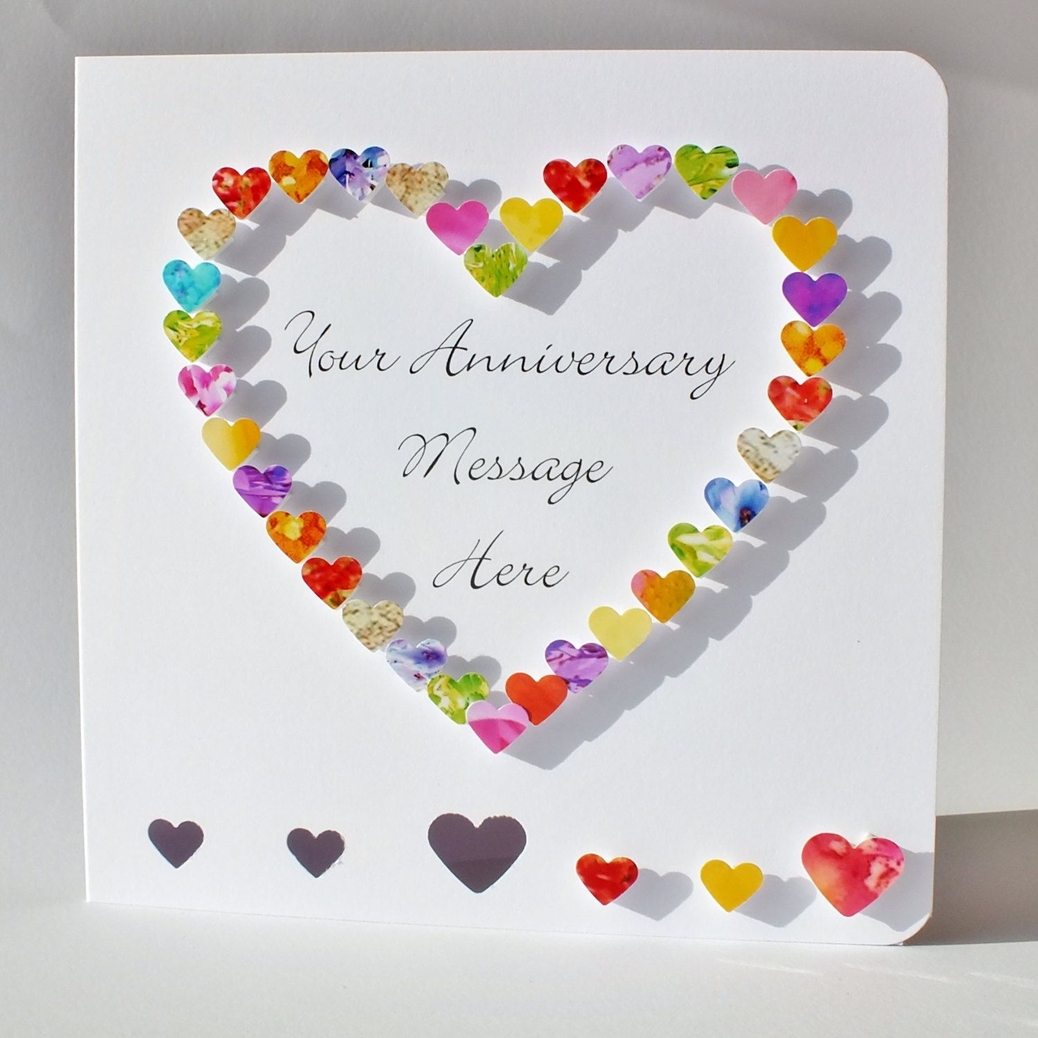 Handmade 3d Anniversary Card Personalised Personalized With Your