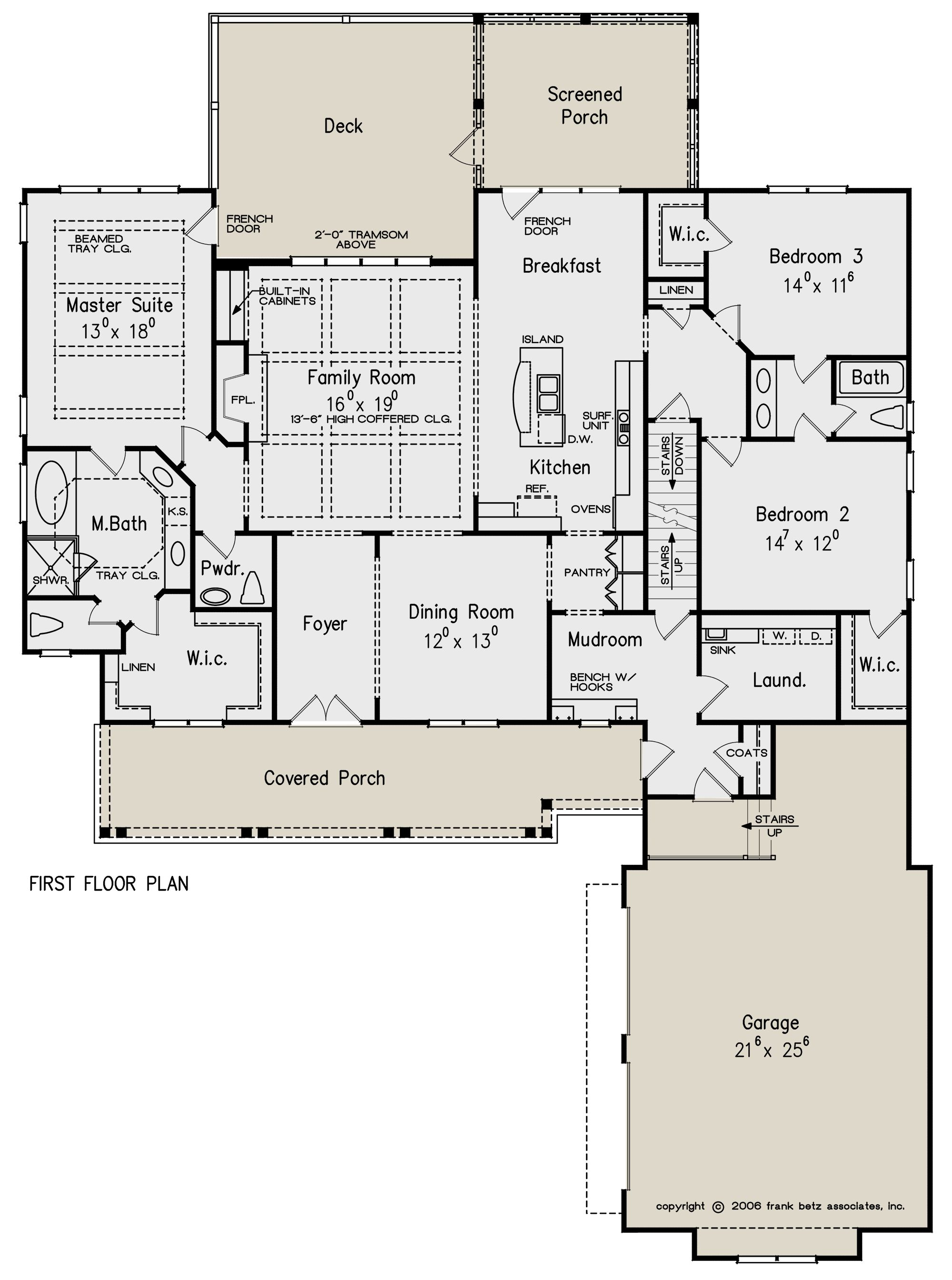 House Plan 8594 00262 Country Plan 2 325 Square Feet 3 4 Bedrooms 2 5 Bathrooms Craftsman Style House Plans House Plans One Story House Floor Plans