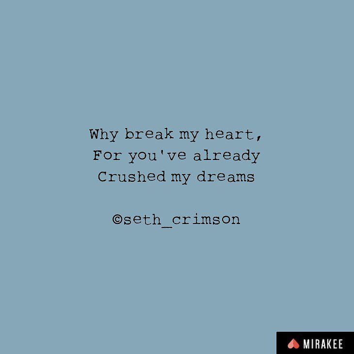 This is posted by : @seth_crimson on @mirakeeapp.  Visit Mirakee.com or download Mirakee from App Store or Google play store.  Join the most exciting and addictive social network for writers and poets.