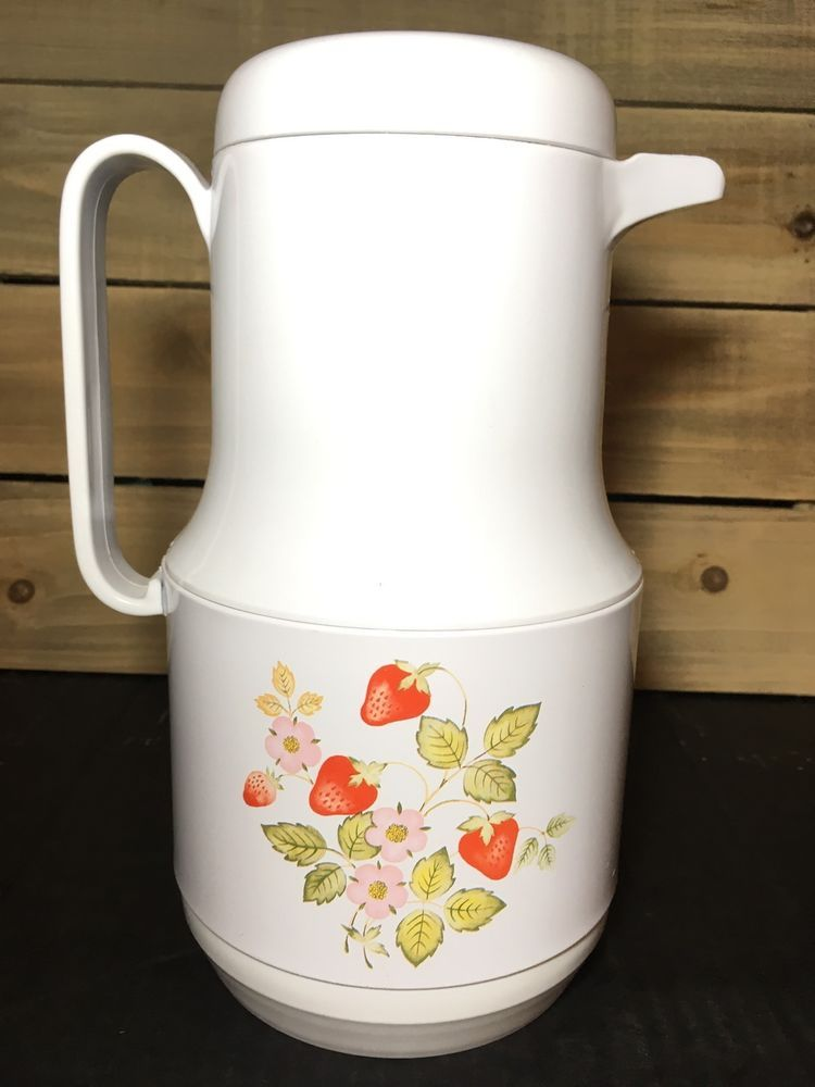 Phoenix Thermos Carafe Strawberry Patch Retro Kitchen Ebay