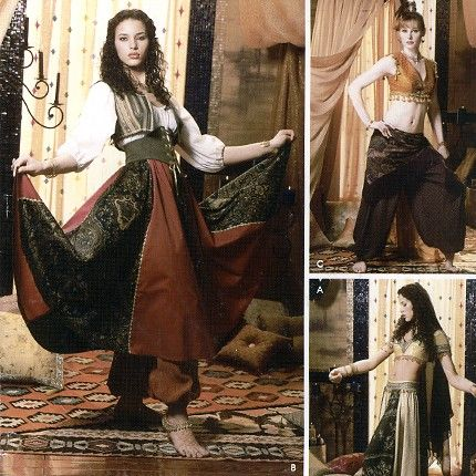 Simplicity 0500 Misses\' Belly Dancer Costume Sewing Pattern - Uncut ...