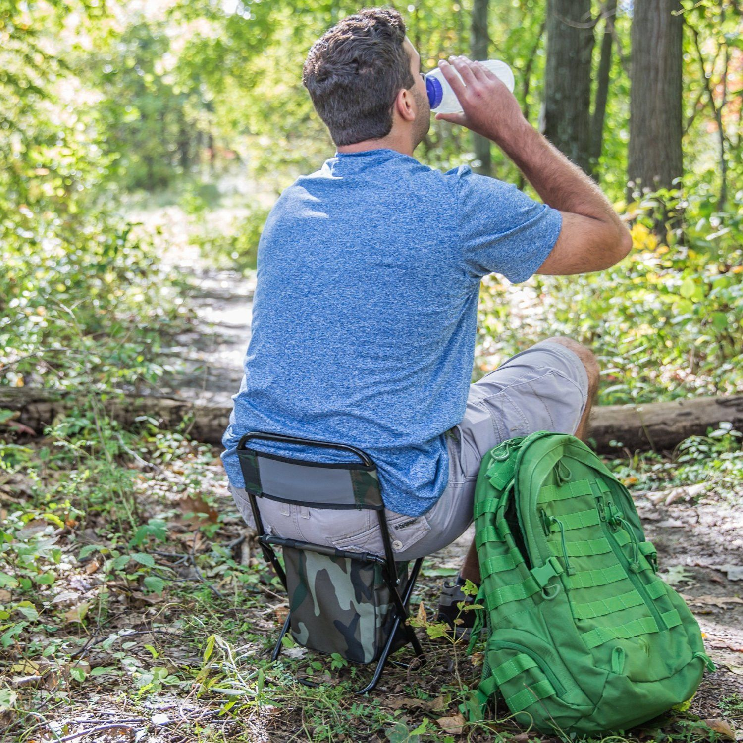 Hiking And Camping Gear Plus Ultra Compact Folding Chair Fits In A