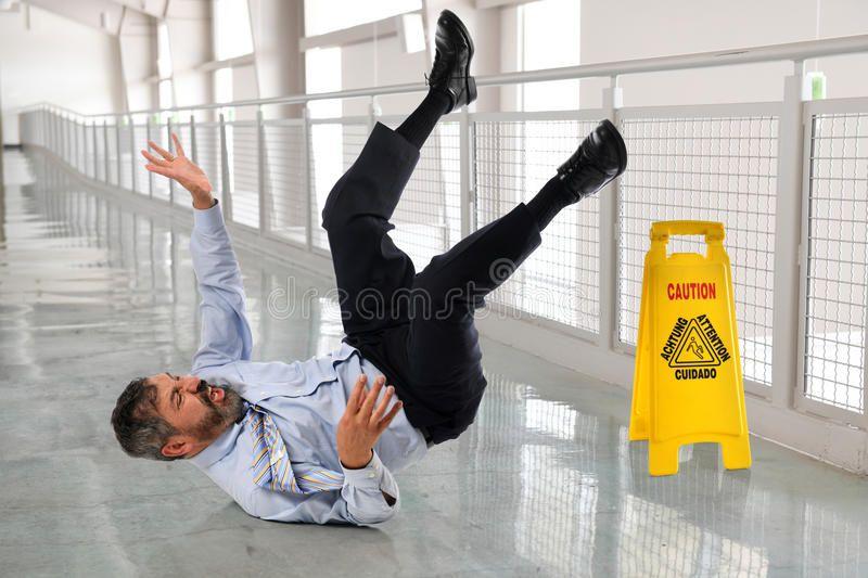 Hispanic Businessman Fallling. Hispanic businessman