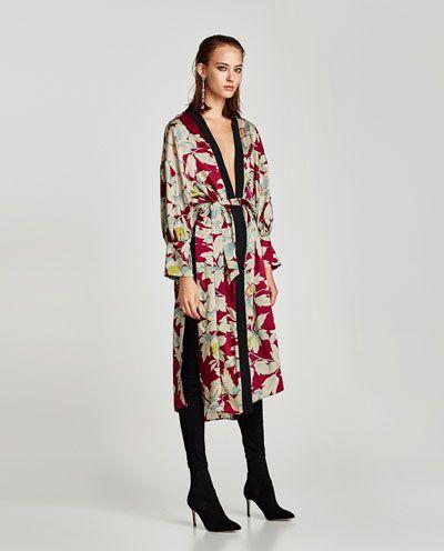 59c06777 FLORAL PRINT KIMONO-DRESS TIME-WOMAN | ZARA United States | Fashion ...