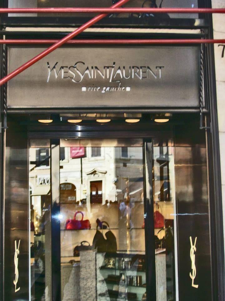 Yves Saint Laurent Via Dei Condotti Rome Rome Streets Rome