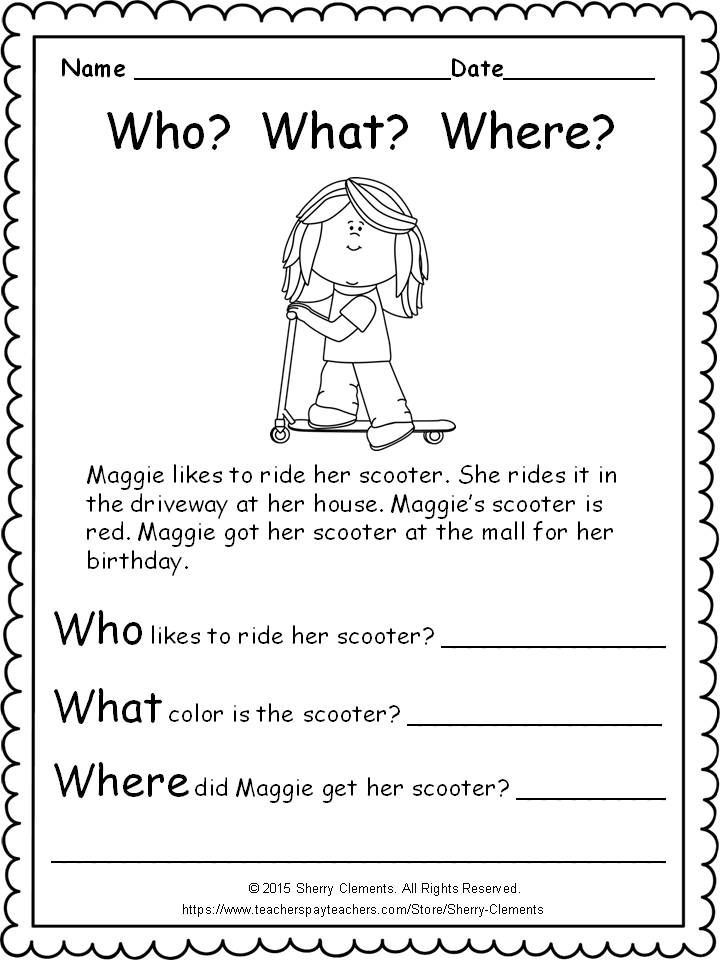 Printable Worksheets reading worksheets for grade 1 : Milestone FREEBIE! (9 pages) Includes language arts and math ...