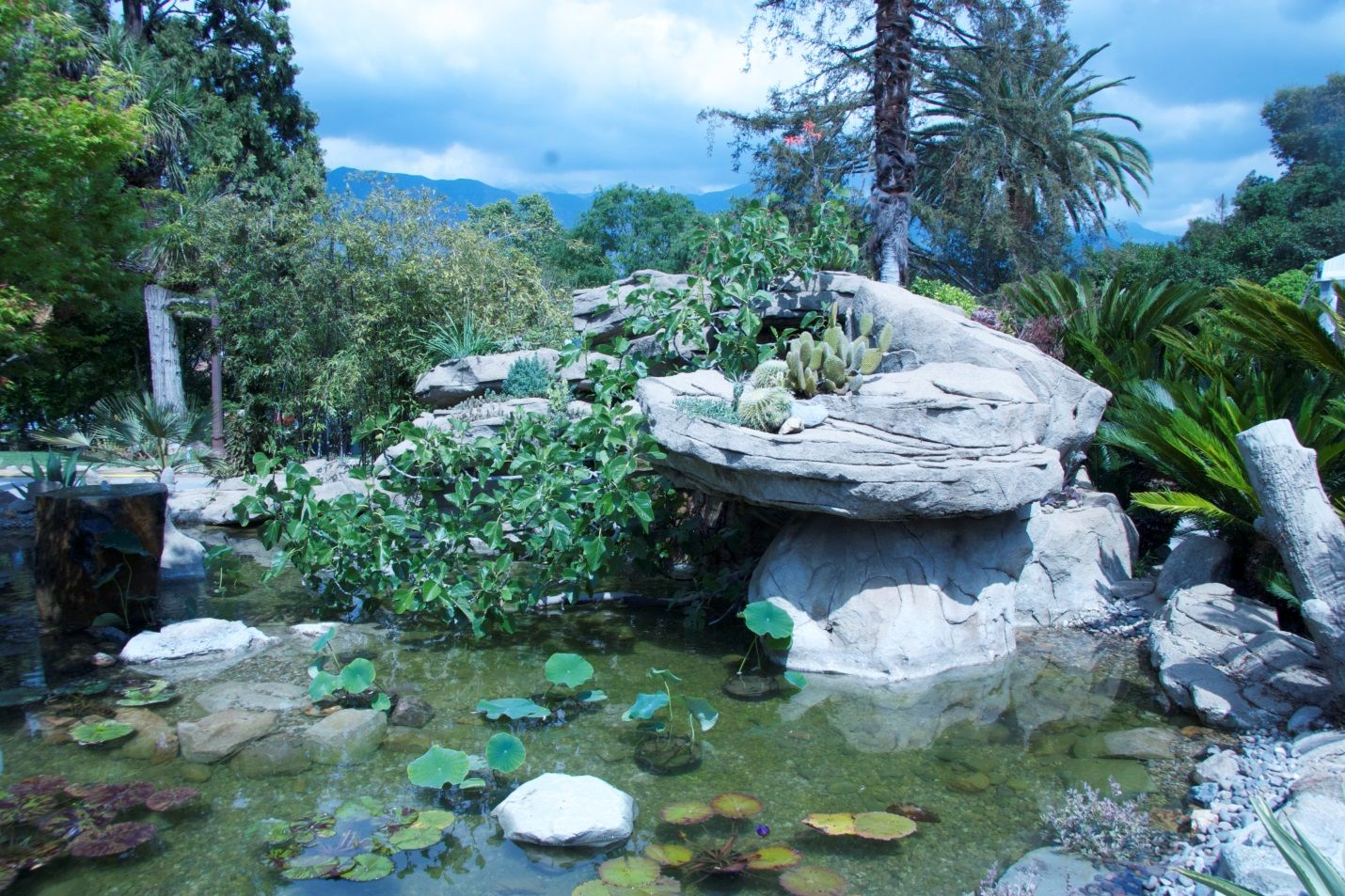 This Very Pretty Pond At The Pasadena Showcase House Of Design For The Arts  Was Refurbished By Steve Sandalis Of Mystic Water Gardens And Is Surrounded  By A ...