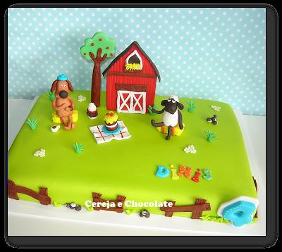 Shaun the Sheep Cereja e Chocolate - cakes, cupcakes & cookies: Bolos de Meninos