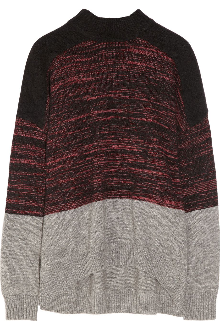 ALEXANDER WANG Color-block oversized knitted sweater | Knitwear ...