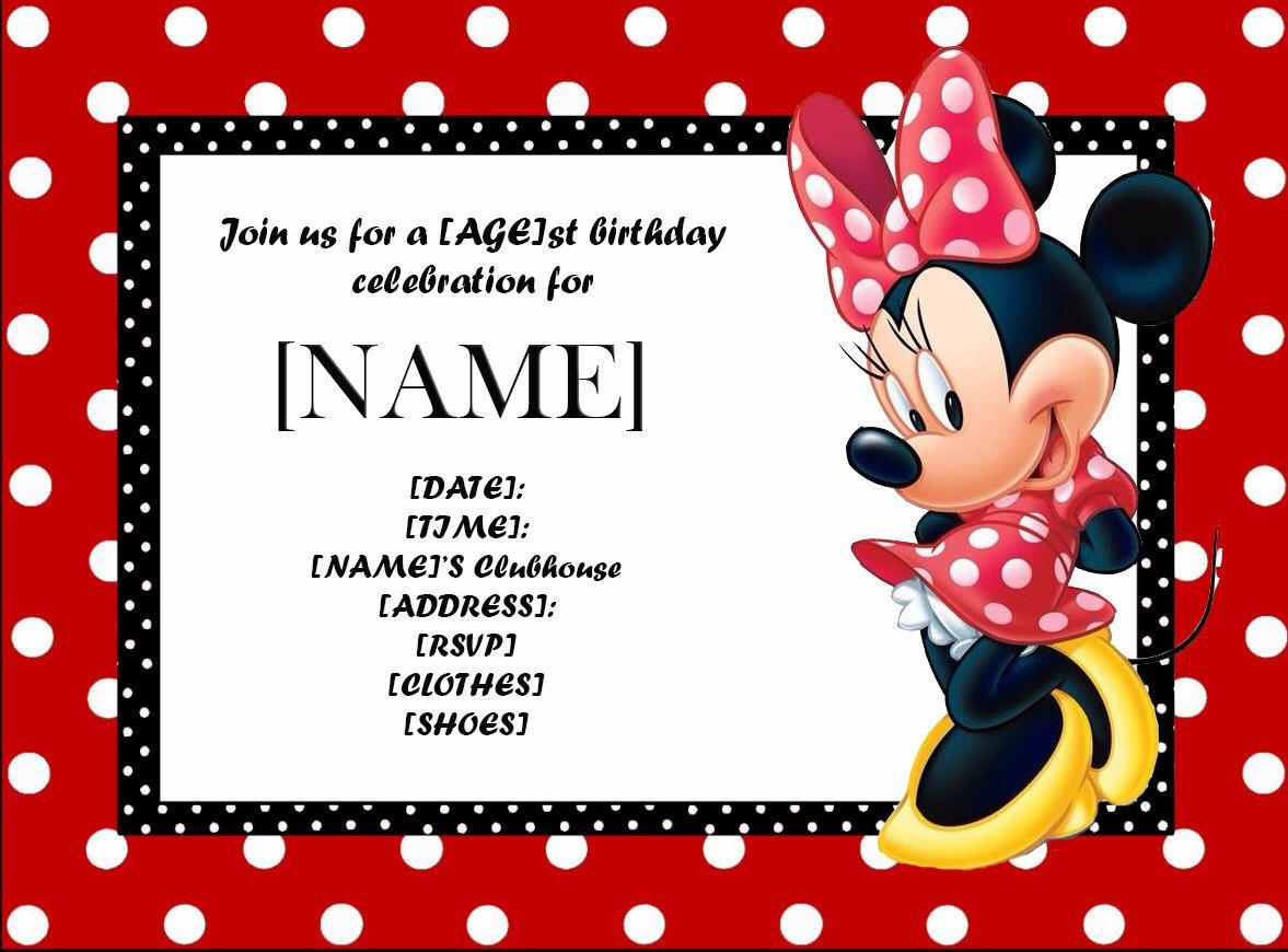 Minnie Mouse Birthday Invitation-Printable-Digital Download-Minnie ...