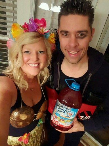 Hawaiian Punch Couples Costume