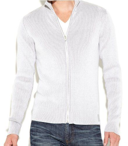 G by GUESS Men's Lindberg Zip-Up Sweater, DIVINE GREY (XS) G by ...