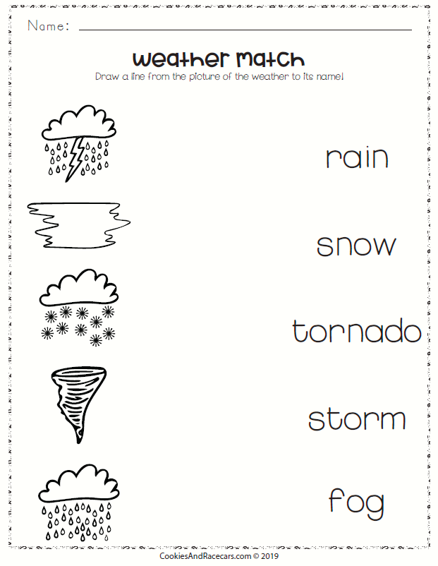 Weather Worksheet Pack Includes This Weather Matching Worksheet Plus 8 More Free Worksheets For A Fun Weather Worksheets Grade R Worksheets Science Worksheets