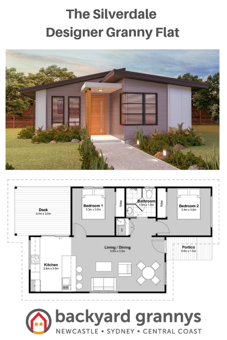 2 Bedroom Designer Granny Flat Small House Design Modern Small House Design Small House Floor Plans