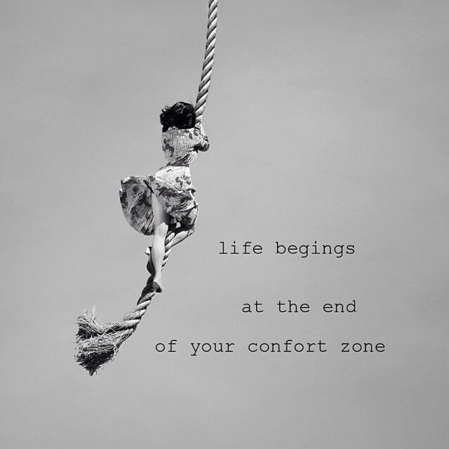 Life begins at the end of your confort zone #quotes # lauquotes
