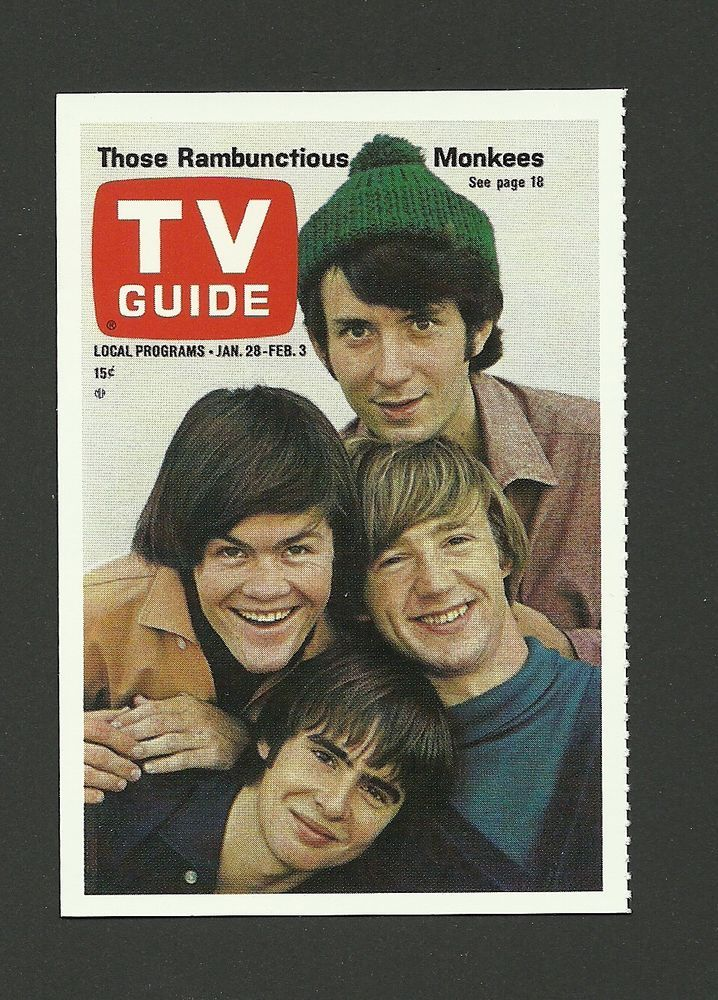 The Monkees Davy Jones TV Guide Collector Card Tv guide