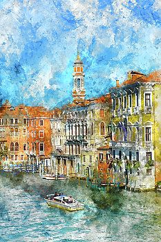 Venice Italy on a nice day by Brandon Bourdages