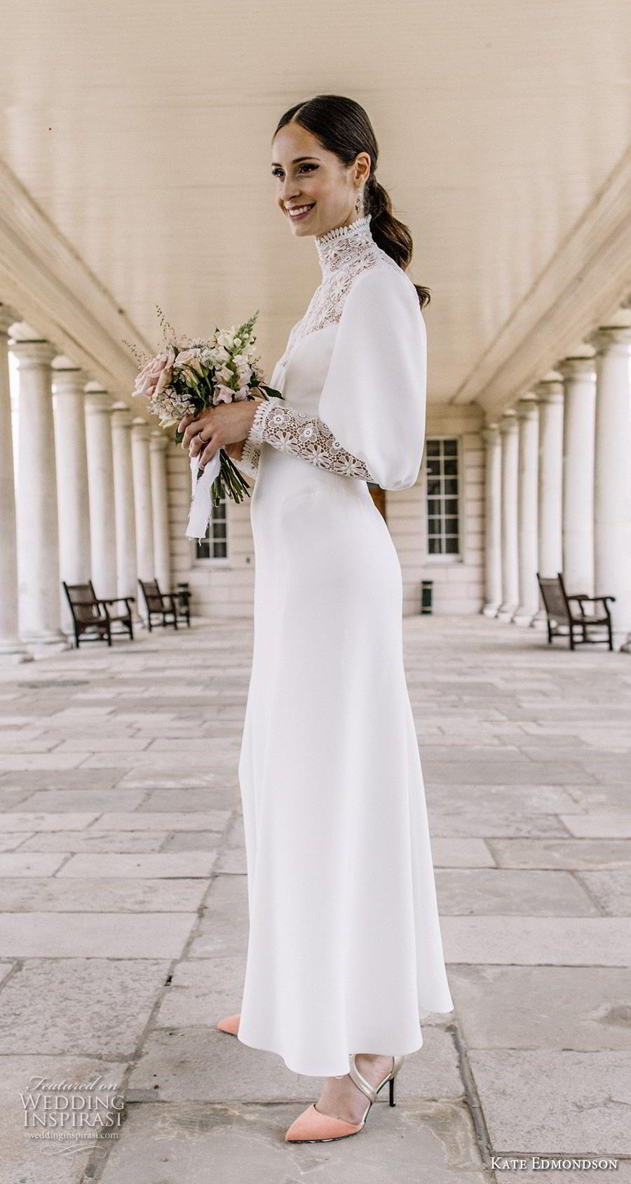 Kate Edmondson Couture Wedding Dresses Wedding Inspirasi Wedding Dresses Ankle Length Wedding Dress Casual Wedding Dress [ 1688 x 900 Pixel ]