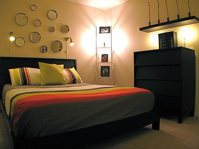 Bedroom Wall Decor Ideas Using Patterned Fabric And Styrofoam
