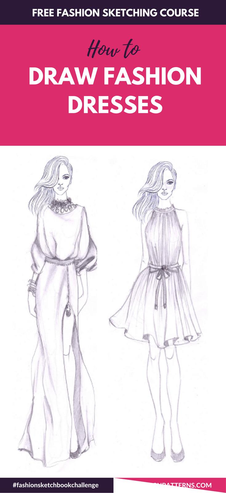 Fashion Sketch Like A Pro With Fashionsketchbookchallenge 30 Days Free Fahion Desi In 2020 Fashion Drawing Tutorial Fashion Drawing Sketches Fashion Design Sketchbook