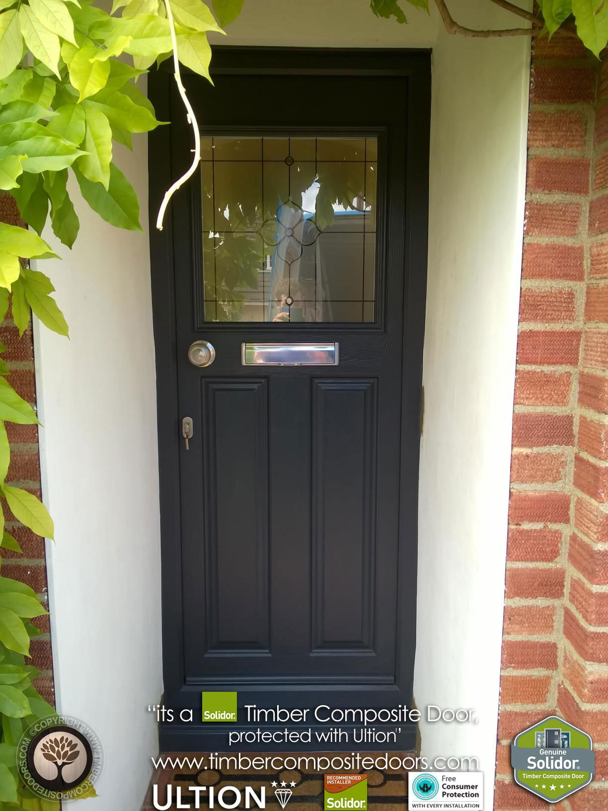 Black-1930s-Solidor-Timber-Composite-Door-With-Ultion-Lock | Front ...