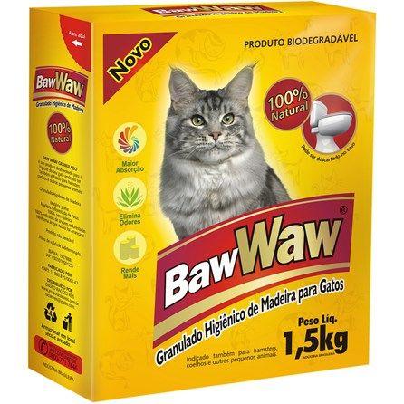 Granulado Higiênico de Madeira Baw Waw - Meuamigopet.com.br #cat #cats #gato #gatinho #bigode #muamigopet