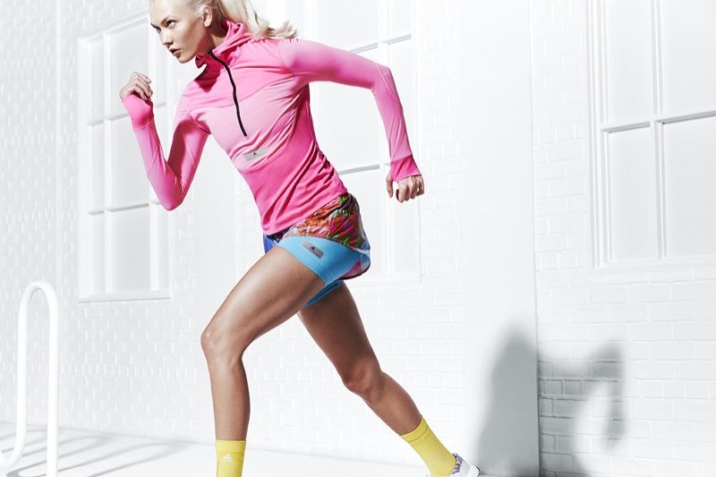 893dc5978705e Going for a run, Karlie Kloss fronts adidas by Stella McCartney spring 2018  campaign