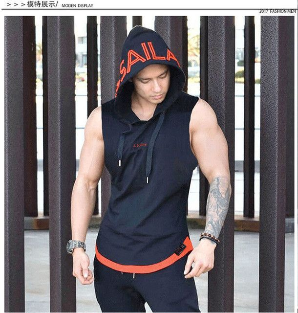565bc9904aae90 2017 LVFT 3 Panel Men s Tank Top Sleeveless T shirt Vest Hip-hop Fitness  Vest Brand Clothes