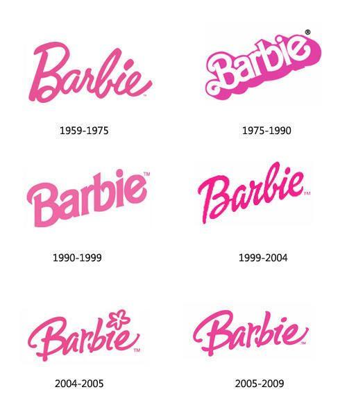 Barbie Logos Over The Years Barbie Tattoo Barbie Logo Barbie Birthday