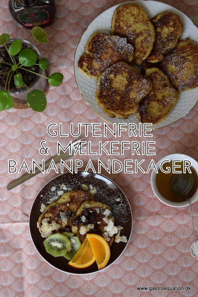 Søde luftige og saftige bananpandekager uden tilsat sukker, dejlige på morgenbordet eller som en lille eftermiddagsdessert, se bloggen for ideer til topping..