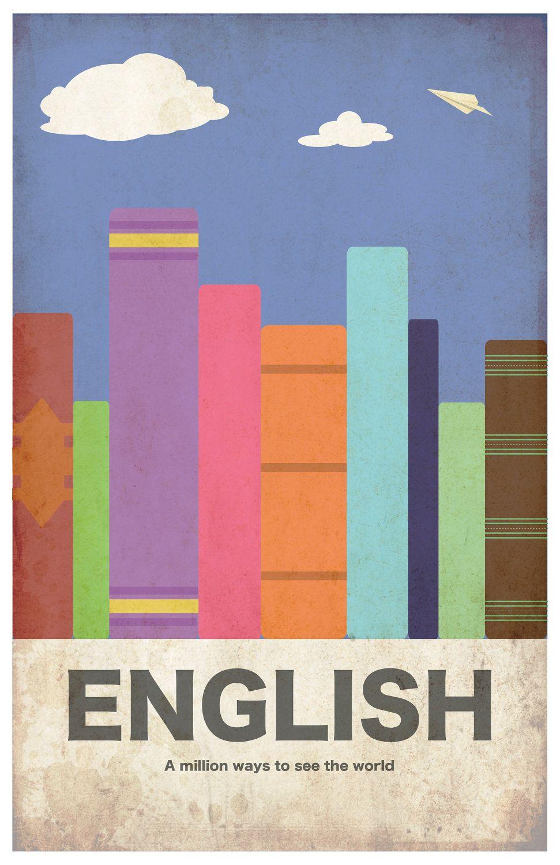 3e06e14a English 11x17 minimalism poster print - Graduation, Teacher Gifts - Home &  Dorm Decor. via Etsy.