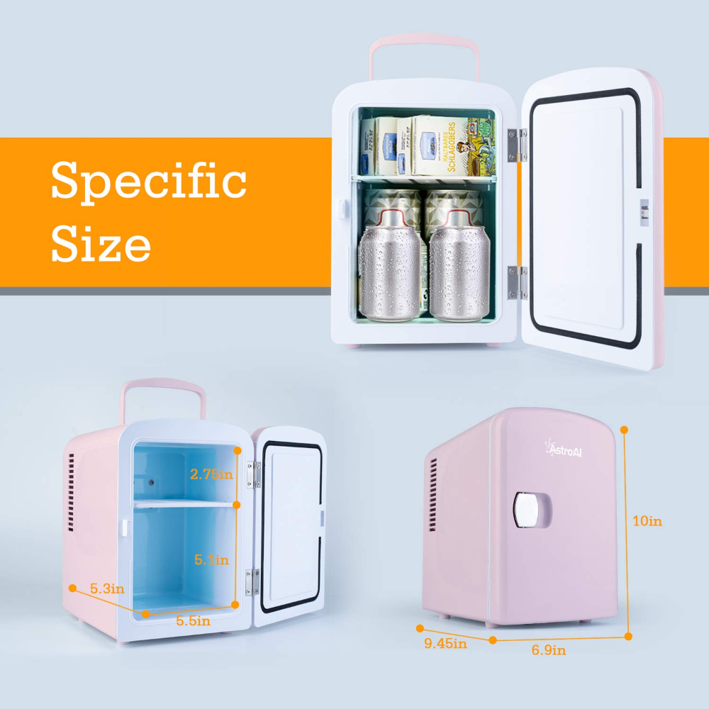 Amazonsmile Astroai Mini Fridge 4 Liter 6 Can Ac Dc Portable Thermoelectric Cooler And Warmer For Skincare Portable Mini Fridge Cool Mini Fridge Mini Fridge