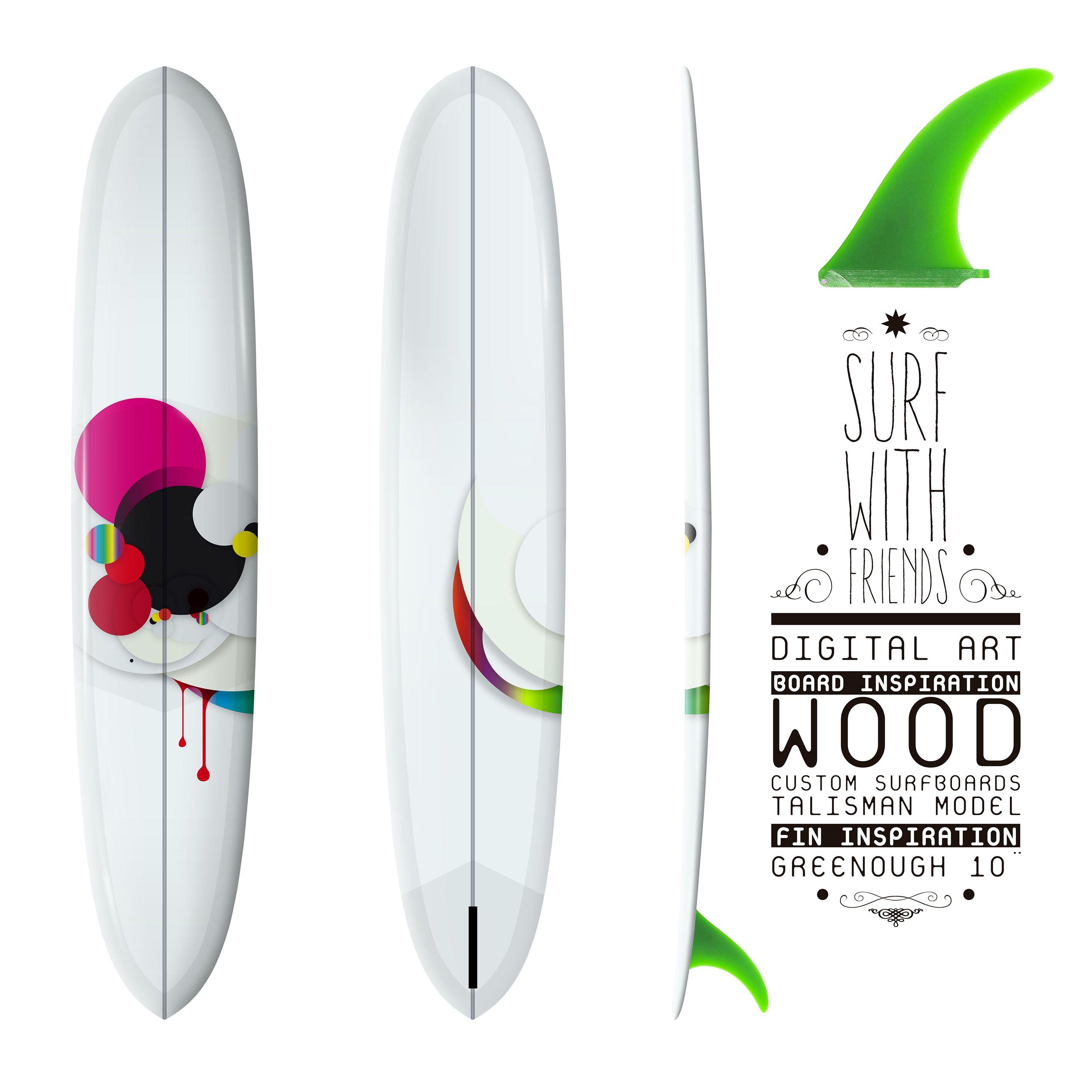 Longboard Surf, Graphic Desing