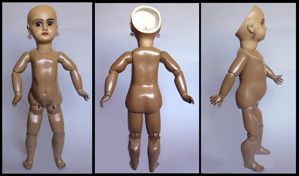 Gorgeous Rare Black Jumeau Bisque Doll