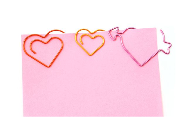 Midori D-Clip Paper Clips | Double Heart (Box of 15) - $6.73 @ JetPens.com