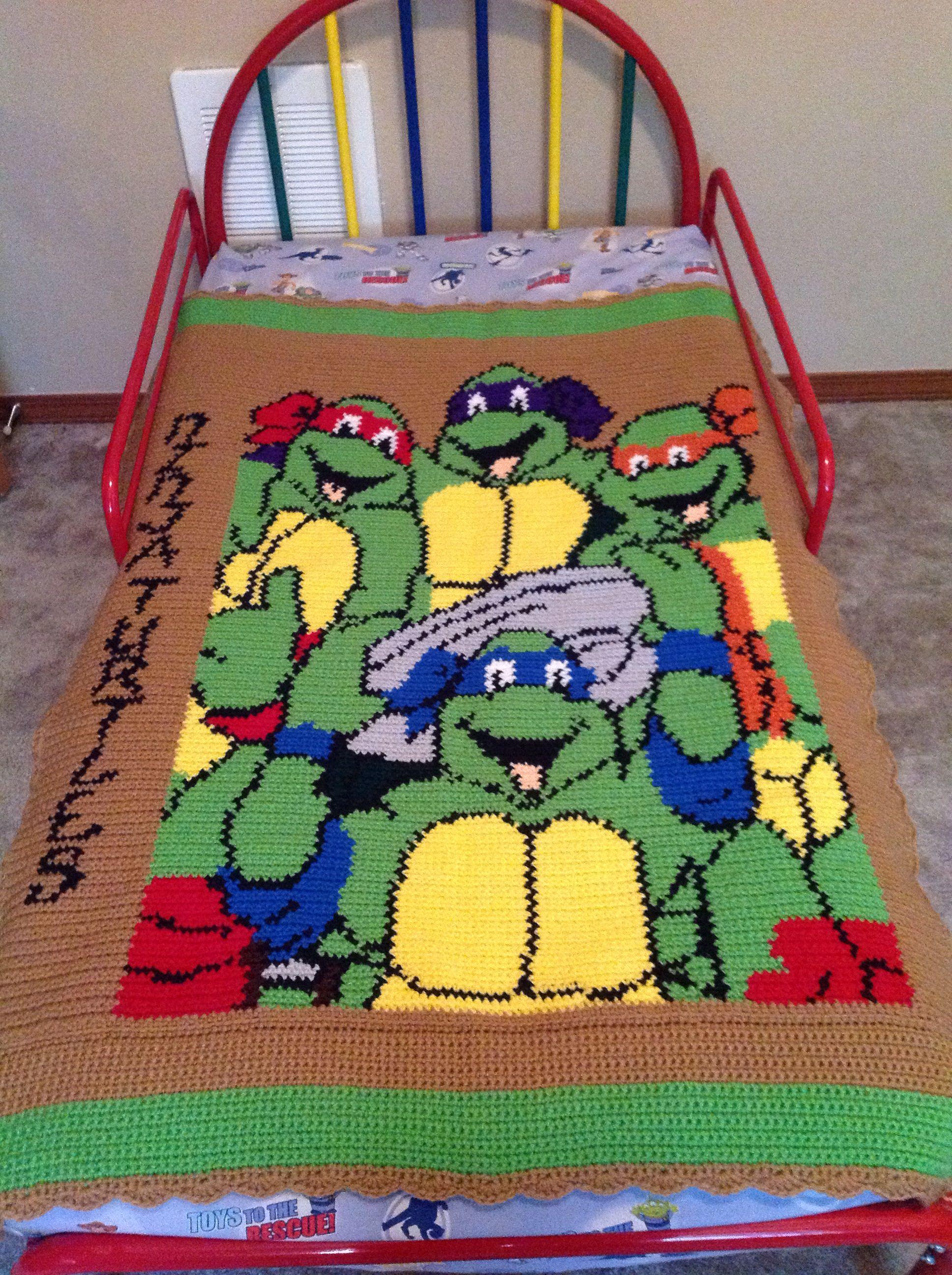 Ninja Turtles Crochet For Boys Crafts Crochet Blanket
