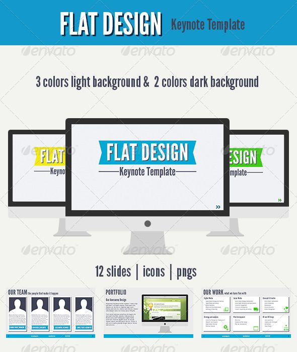 Flat Design Keynote Template Creative Templates For Business