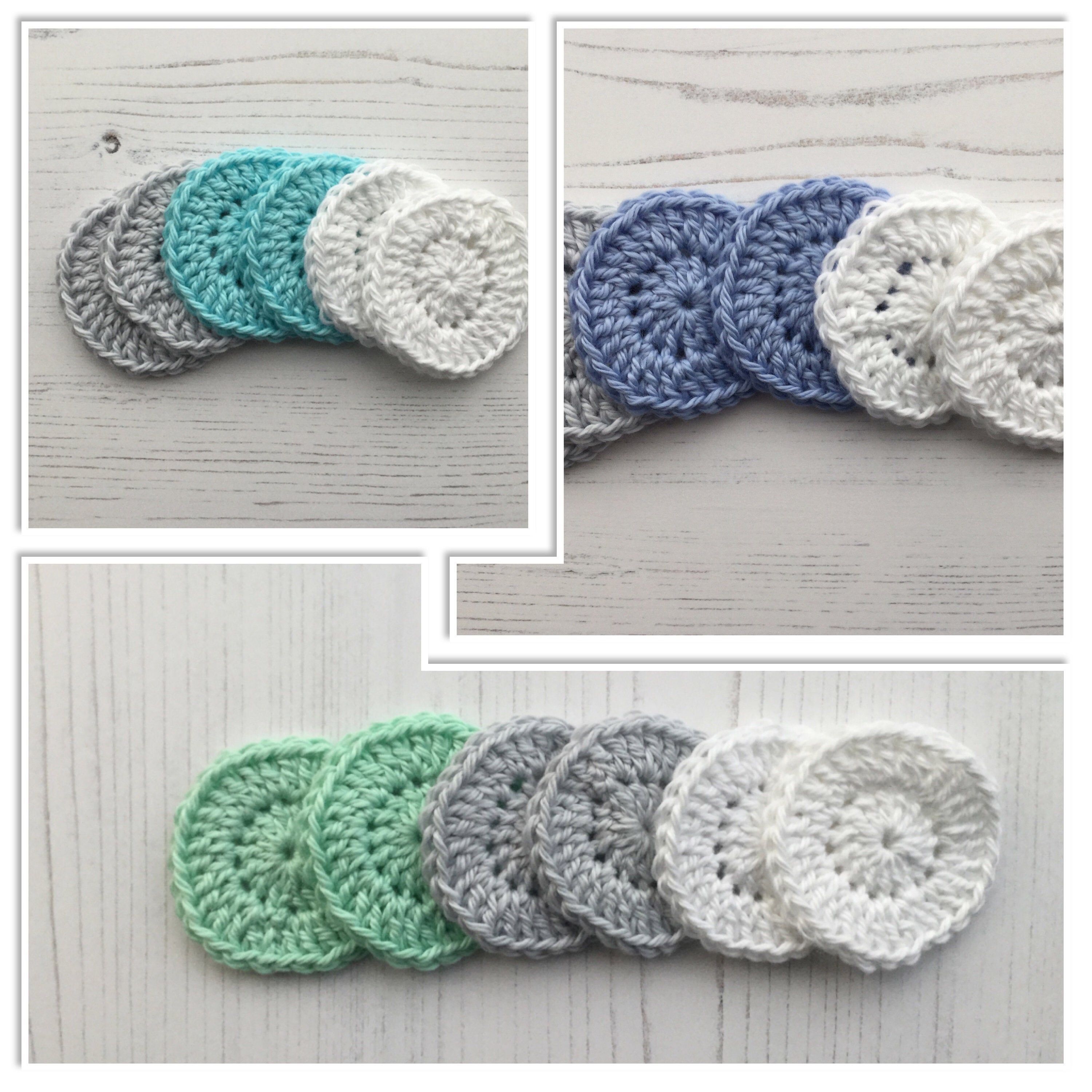 Crochet Reusable Makeup Remover Pads in Cotton by
