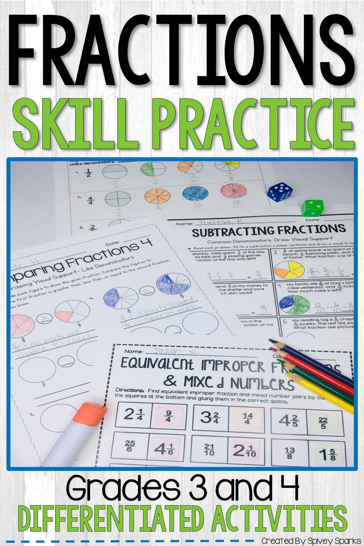 Fraction Worksheets Distance Learning