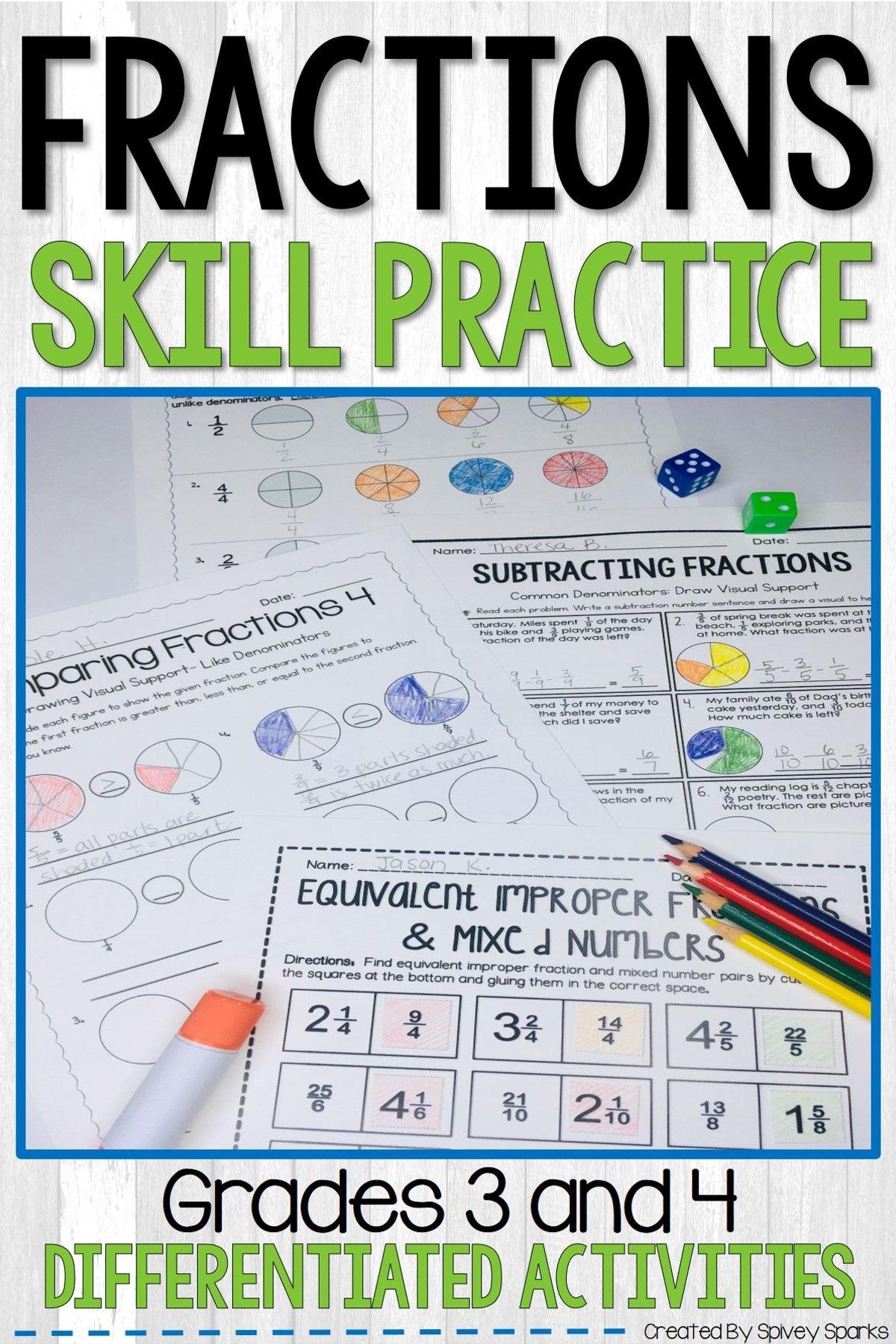 Fraction Worksheets Distance Learning