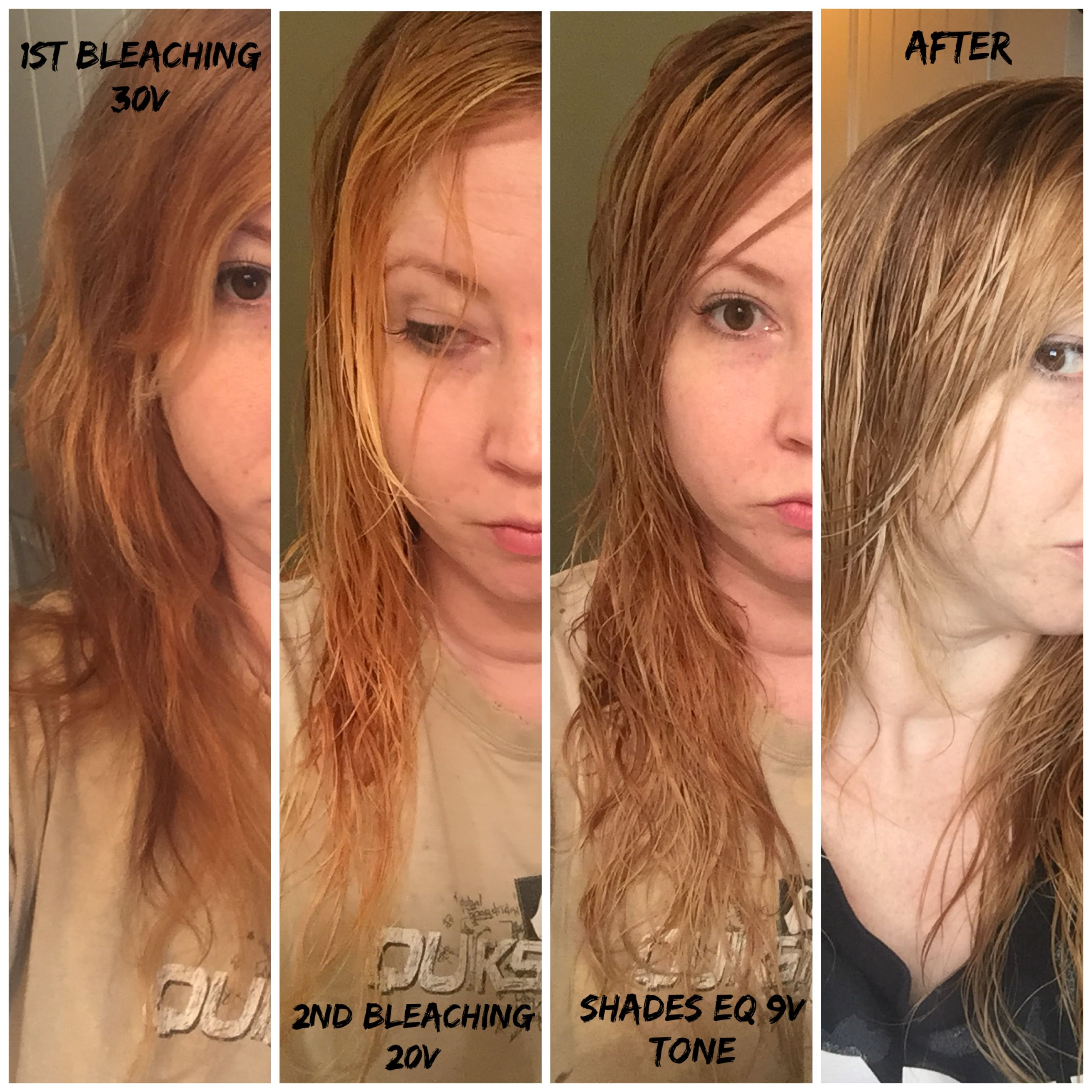 Oh The Process I Always Pull Very Orange Bleached Then Toned With Shades Eq 9v Then Used Wella Toner T14 Worked Better Wella Toner Bleach Hair Styles