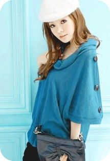 blue slouchy blouse