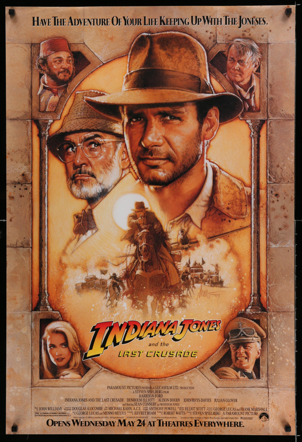 Indiana Jones And The Last Crusade In 2020 Indiana Jones Iconic Movie Posters Original Movie Posters