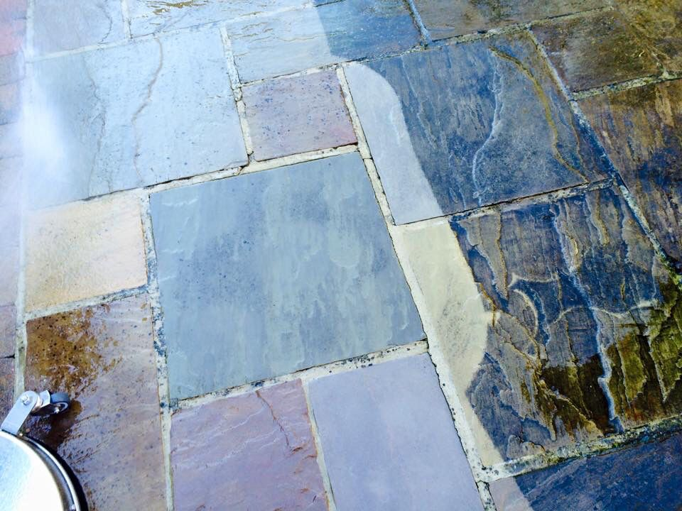Flag stone cleaning