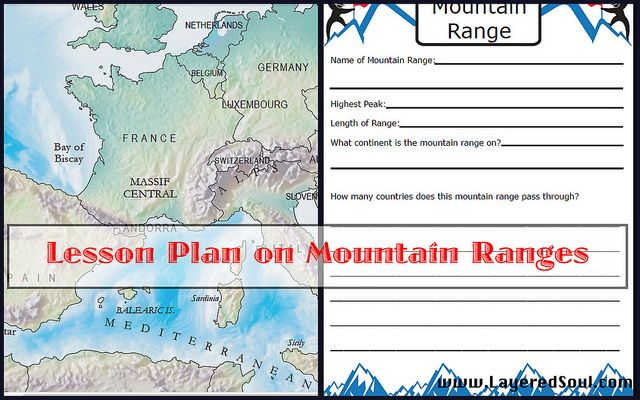 Stacey is giving away WonderMaps! Lesson Plan on Mountain Ranges www.LayeredSoul.com