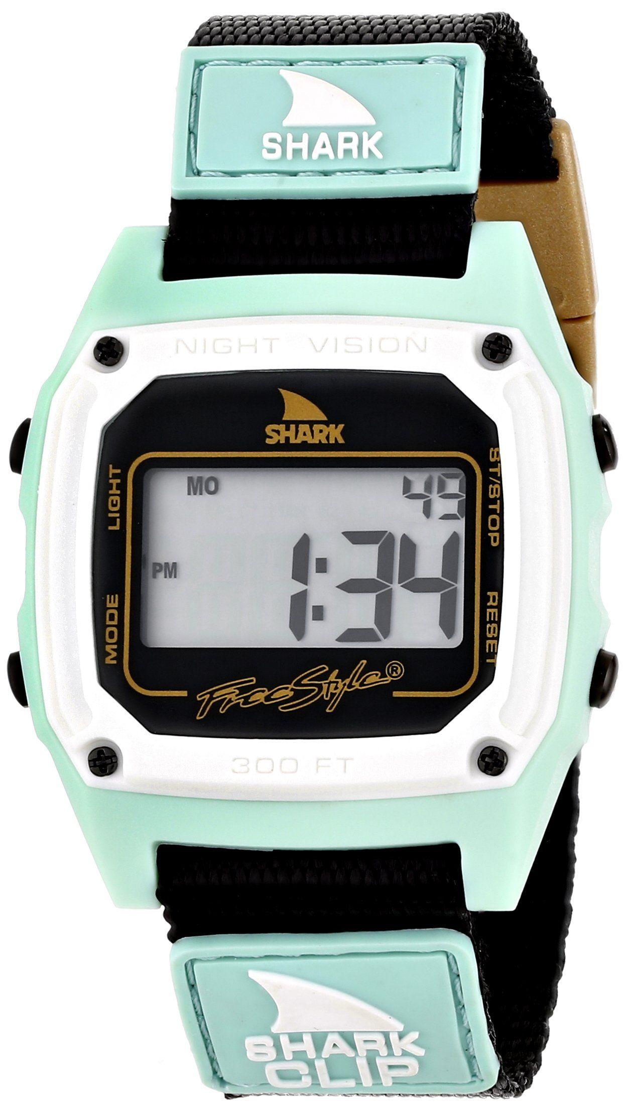 Freestyle Men s 103326 Shark Classic Clip Digital Display Japanese Quartz  Black Watch 986ed25469