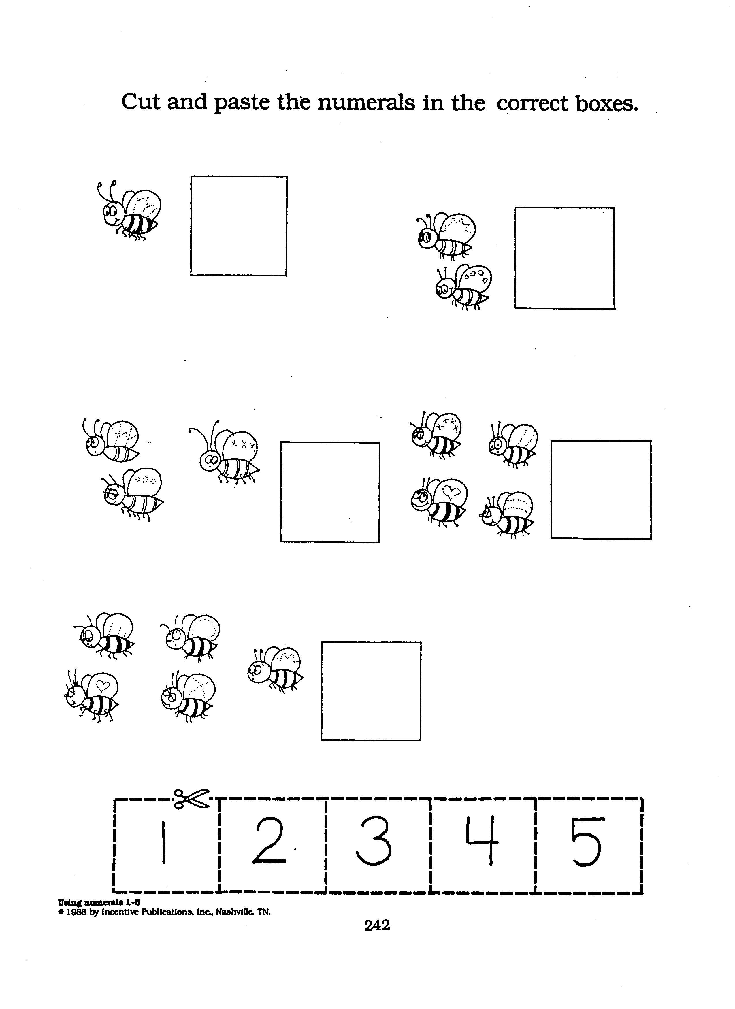 Counting Worksheet Bumblebees