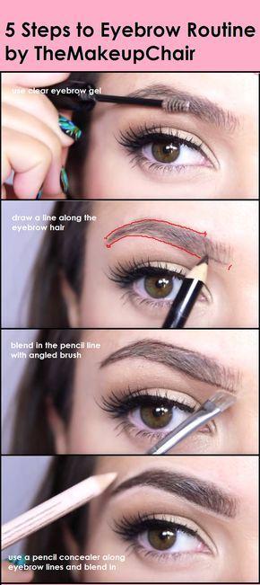 ae1181cdb 5 pasos para aprender a como maquillarse la ceja.   Peinados ...